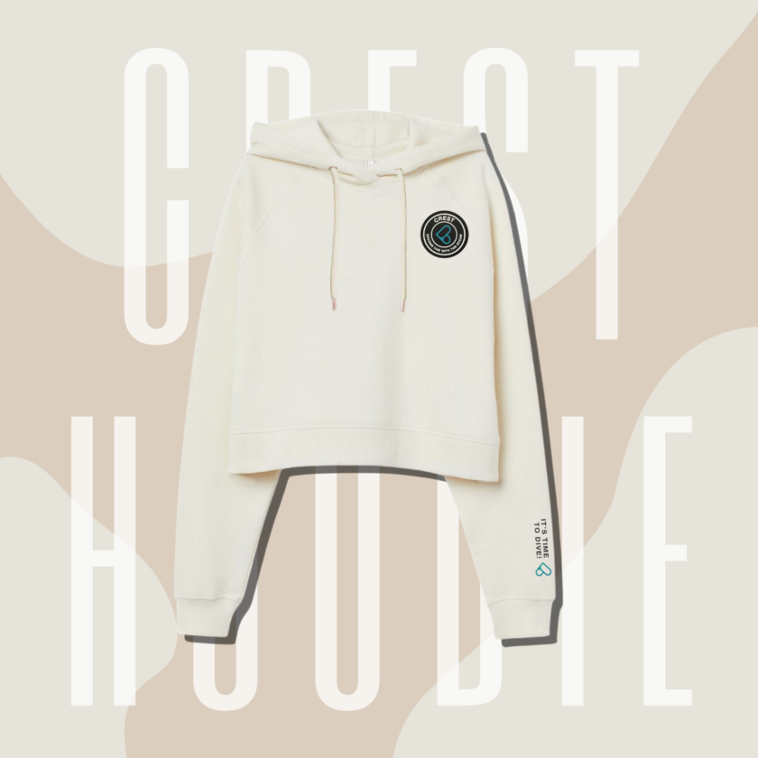 CREST Almond Cropped Hoodie 杏仁果小辣帽踢